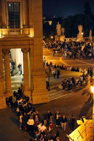 Affluenza di spettatori ai Musei Capitolini