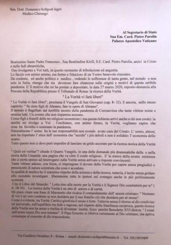 Scilipoti lettera al Papa