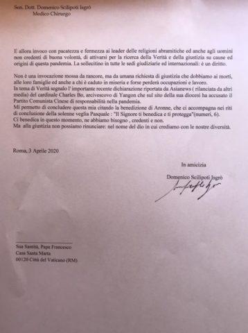 Scilipoti lettera al Papa 2